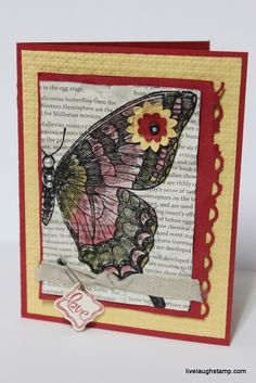 Swallowtail Card.. inspired from the boards at SU! Leadership 2013