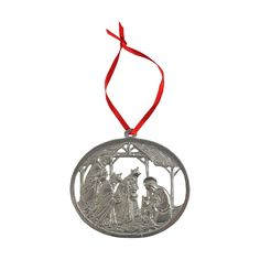 Pewter Ornament - Wise Men Nativity in Seasonal Decor, Holiday Decor, O Holy Night, Wise Men, Pewter, Nativity, Christmas Ornaments, Gifts, Tin