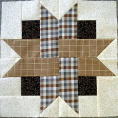 Patchwork of the Crosses Square Patterns, Quilt Block Patterns, Pattern Blocks, Crochet Patterns, Quilting Room, Quilting Projects, Quilting Designs, Small Quilts, Mini Quilts