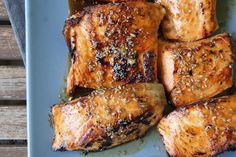 Salmon with Sticky Coriander Glaze