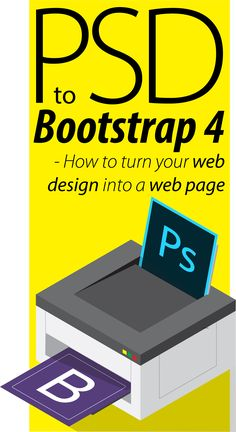 PSD to Bootstrap 4 - how to turn your web design into a web page. Learn Bootstrap 4 navigation, grid, containers, rows, columns and input controls. See more at http://skl.sh/2yOx5Wh