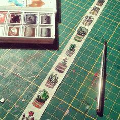 #diy #washitape #kaktus #designertape #selfmade #aquarelle #draw #art #flowers #aimezlestyle #floral #selfdraw #selbstgemalt #selbstgemacht #filofax #filofaxdeutschland #filofaxerei #blumen #stickers #sticker #washis #washitapes #doityourself #love by planning.and.co