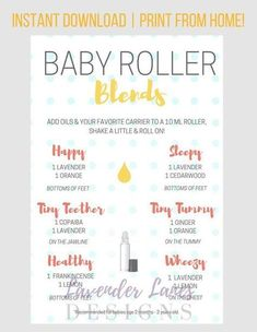 Different Types of Citrus Oils and Their Benefits - PLEASE READ ALL INFORMATION BELOW 🙂 This baby roller recipe card with Young Living essential oils is a wonderful resource for essential oil users! Essential Oils For Babies, Doterra Essential Oils, Young Living Essential Oils, Essential Oil Blends, Essential Oil Diffuser, Essential Oils For Pregnancy, Essential Oils For Teething, Gentle Baby Essential Oil, Essential Oil Combinations