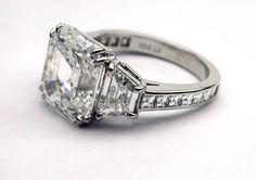 Royal Asscher cut. Love this ring.