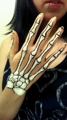 skeleton drawings on hands - Google Search