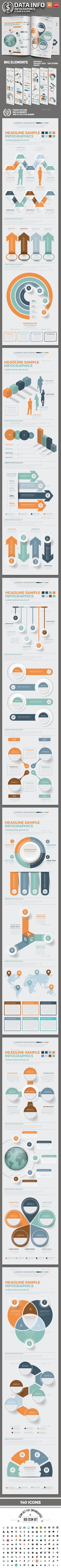Infographics Elements Design Templates Vector EPS, AI Illustrator