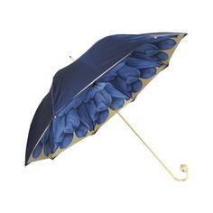Pasotti Lusso Petalo Blu Umbrella ($210) ❤ liked on Polyvore featuring accessories, umbrellas, blue, blue umbrella, flower umbrella and print umbrella