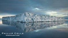 Tabular iceberg, Antarctic Peninsula, near Paulet Island, sunset.