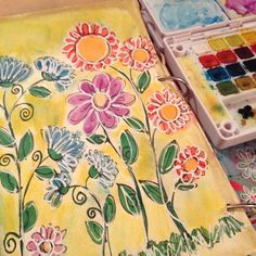 #fun #watercolor #flowers #junkjournal #artjournal #artjournalingforbeginners #colorful #sharpie