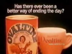 Ovaltine ~~~ Used to love the stuff. Tried it again recently and hate it lol Tv Adverts, Tv Ads, 1970s Childhood, My Childhood Memories, Retro Advertising, Vintage Advertisements, 80s Kids Shows, Ovaltine, Retro Food