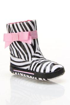 Animal Print Waterproof Boots