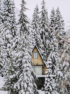Snowy A Frame Home