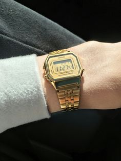 #Golden #casio #watch