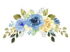 Boda Laura Free Watercolor Flowers, Watercolor Flower Background, Watercolor Wallpaper, Watercolor Rose, Watercolor Design, Blue Flowers Images, Flower Images Free, Yellow Flowers, Blue Flower Png