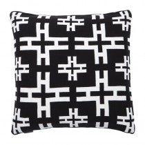 black and white cotton pillow set of 2 square elegant pillow ralph lauren home eichholtz furniture us usa canada oroa Pillow Set, Luxury Lifestyle, Cushions, Throw Pillows, Design, Monochrome Print, Home Decor, Black, Toss Pillows