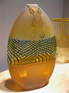 Preston Singletary and Dante Marioni two wonderful glass artists blending Native American with Italian beautiful.