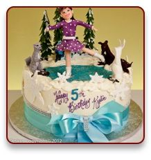 I love this ice skating cake - on a pond with woodland creatures!