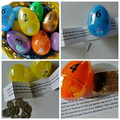 Scripture Egg Collage - This is great and can be used in a Sunday School classroom too!
