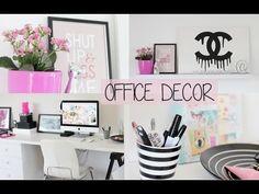 MY OFFICE DECOR / TOUR - YouTube
