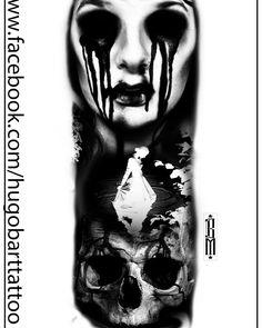 #skull #zombie #tattoo#blackandgrey #creepy #design #sleeve#arm @blackandgreyinked @blackandgreytattoogallery @tattoorealistic @tattoorealistic @bestrealistictattoos @purplerosebristol @horrortattoos @horror_tattoo
