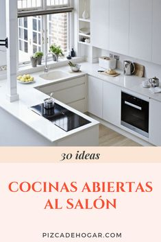 We hope these proposals help you think about how you can integrate your co . Living Room Kitchen, Kitchen Storage, Kitchenware, Home Remodeling, Kitchen Design, Sweet Home, Kitchen Cabinets, Room Decor, Ideas