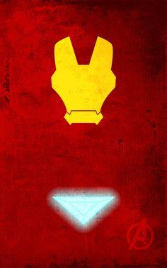 Iron Man Superhero Poster. Superhero Minimalist Posters by Calvin Lin.