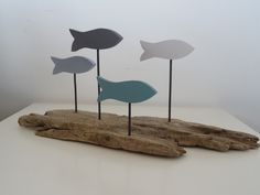 Décoration banc de poissons bois flotté : Accessoires de maison par c-driftwood www.etsy.com/fr/shop/CDRIFTWOOD