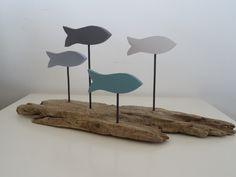 Décoration banc de poissons bois flotté : Accessoires de maison par c-driftwood