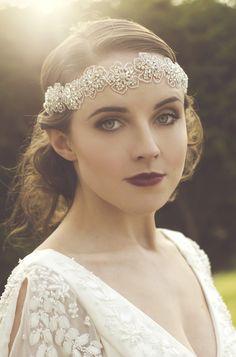 Beautiful bridal headband by What Katy Did Next