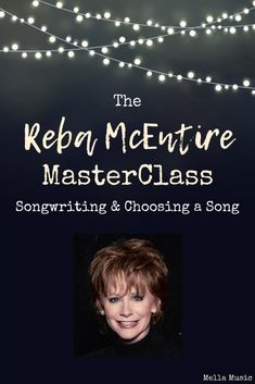 The Reba McEntire MasterClass Lesson About Songwriting and Choosing Songs to Sing Singing Lessons, Singing Tips, Music Lessons, Singing Quotes, Vocal Exercises, Singing Exercises, Woman Singing, Reba Mcentire, Piece Of Music