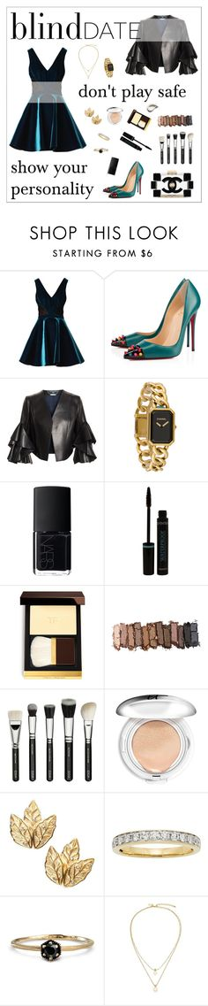 """Blind Date Contest"" by tippi-h ❤ liked on Polyvore featuring Emilio De La Morena, Christian Louboutin, Chanel, Alexander McQueen, NARS Cosmetics, Urban Decay, It Cosmetics, Satomi Kawakita and Kate Spade"