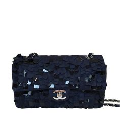 Chanel Medium Double Flap Bag Navy Blue - Limited Edition b5cae1521ef7c