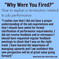 How to answer interview questions about being fired from work. Be confident that you can handle interview questions about termination of employment properly. Job Interview Answers, Job Interview Preparation, Job Interviews, Interview Nerves, Interview Help, Job Resume, Resume Tips, Resume Examples, Resume Ideas