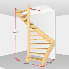 Inventive Staircase Design Tips for the Home – Voyage Afield Home Stairs Design, Interior Stairs, Home Room Design, Small House Design, Home Interior Design, Loft Staircase, Tiny House Stairs, Building Stairs, A Frame House