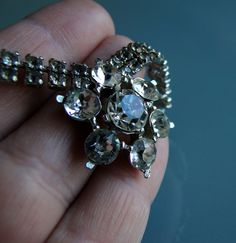 Vintage Rhinestone Necklace by tintiara on Etsy, $29.00