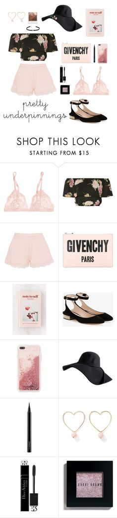 """""""Pretty Underpinnings"""" by stylechristine ❤ liked on Polyvore featuring La Perla, Oh My Love, STELLA McCARTNEY, Impossible Project, Givenchy, Urban Outfitters, Nicholas Kirkwood, MAC Cosmetics, Ana Accessories and Christian Dior"""