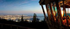 GROUSE MOUNTAIN, NORTH VANCOUVER. We had dinner here in 2011. Best view for dinner thus far.
