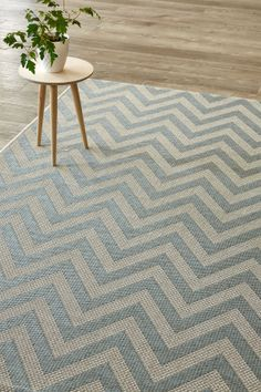 Silver Mint Herringbone (2 X 3 m): Water-resistant, durable poly-propylene woven flatweave (2 X 3 m). Make a state...
