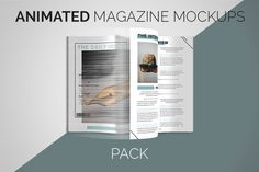Animated Magazine Mockups | PACK by wowproduction on @creativemarket