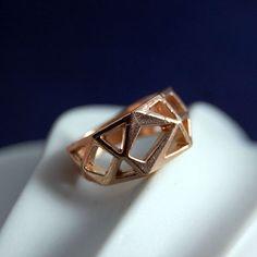 Specimen  10 K Rose Gold Ring by MarKhed on Etsy, $212.00