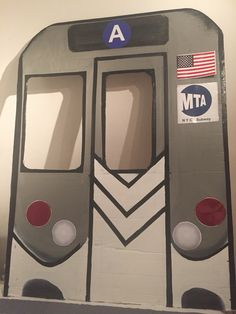 NYC Subway photo booth, back drop for kids party.