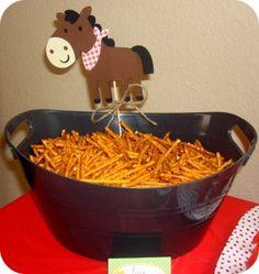 Farm party - horses hay