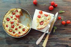 Quiche sans pâte et sans gluten aux tomates cerises, feta et basilic   Emilie and Lea's Secrets