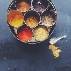 Refilling the spice box, my go to traditional spice storage for all my Indian cooking needs. Spice Storage, Punch Bowls, Pantry, Spices, Indian, Traditional, Cooking, Box, Pantry Room