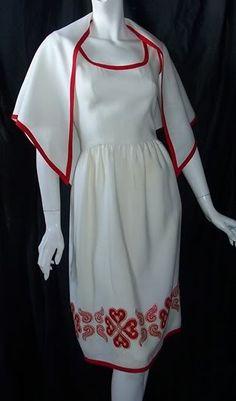 1960s Oscar de La Renta dress and wrap