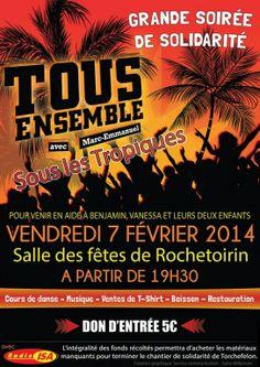 Grande soirée de solidarité « Tous Ensemble », Rochetoirin (38110), Rhône-Alpes