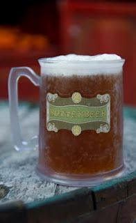 Butterbeer Non-alcoholic (serves 4-6)1 pint vanilla ice cream1/4 cup butter, softened1/2 t. butterscotch extract1/4 cup brown sugar1 t. ground cinnamon1/2 t. ground nutmeg1 quart apple ciderIn a large mixing bowl, combine ice cream, butter, butterscotch extract, brown sugar, cinnamon and nutmeg. Pour into freezer safe container and place in freezer. When ready to serve, bring apple cider to a simmer. Place 1 scoop of ice cream in a thick soda glass or large mug. Top with hot apple cider.