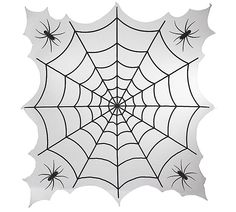 Spider Web And Bats Orange Round Tablecloth. Easy Halloween Party Decor For  Kids Or Adults. #Halloween #tablecloth | Halloween Spookiness | Pinterest  ...
