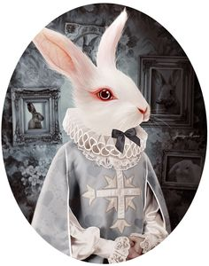 White Rabbit. His outfit is inspired by his appearance  with the Queen of Hearts towards the end of the story.  by Autonoe