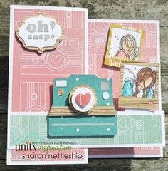 Pop up box card featuring Unity stamps - Tess, Nora & Addison Girls. Sentiment is from Beautiful Soul. Pop Up Box Cards, Unity Stamps, Girl Inspiration, Birthday Cards, Card Ideas, Stamp Card, Paper Crafts, Beautiful Soul, Create